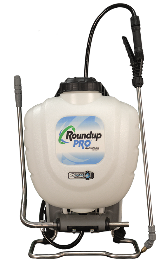 Roundup Pro® No Leak Pump Backpack Sprayer with Stainless Steel Components  and Deluxe Comfort Harness (4 Gallon)