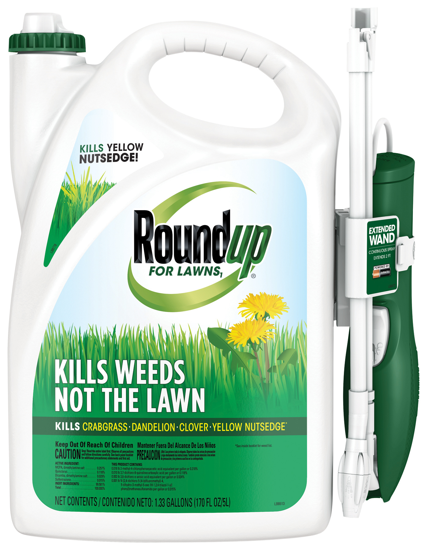lawn weed control spray roundup for lawns1 with extended wand roundup. Black Bedroom Furniture Sets. Home Design Ideas