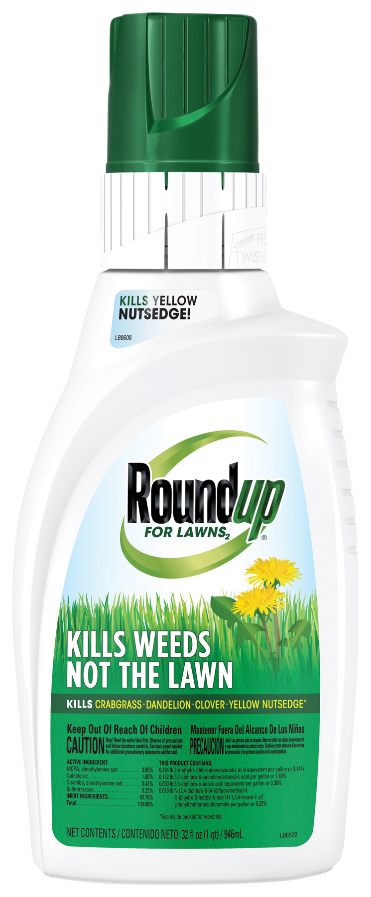 Roundup For Lawns 2 Grass Friendly Weed Killer Roundup