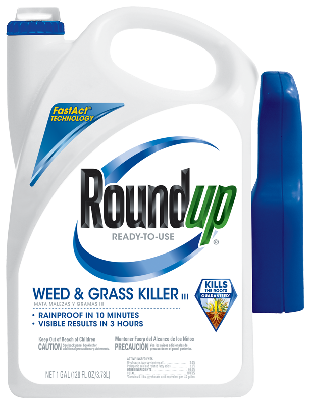 Roundup Grass and weed killer three with trigger sprayer