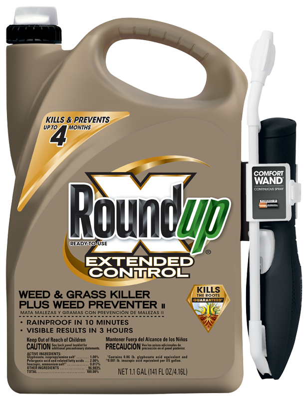 Roundup Extended Control Ready To Use Weed Grass Killer Plus Preventer II With Comfort Wand