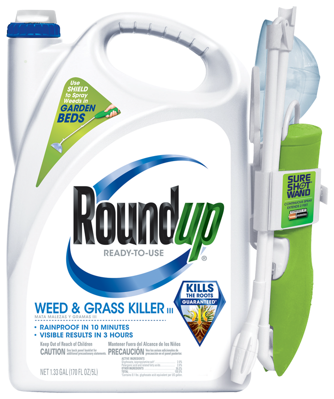 Garden Weed Control Roundup Ready To Use Gr Iii With Sure Shot Wand
