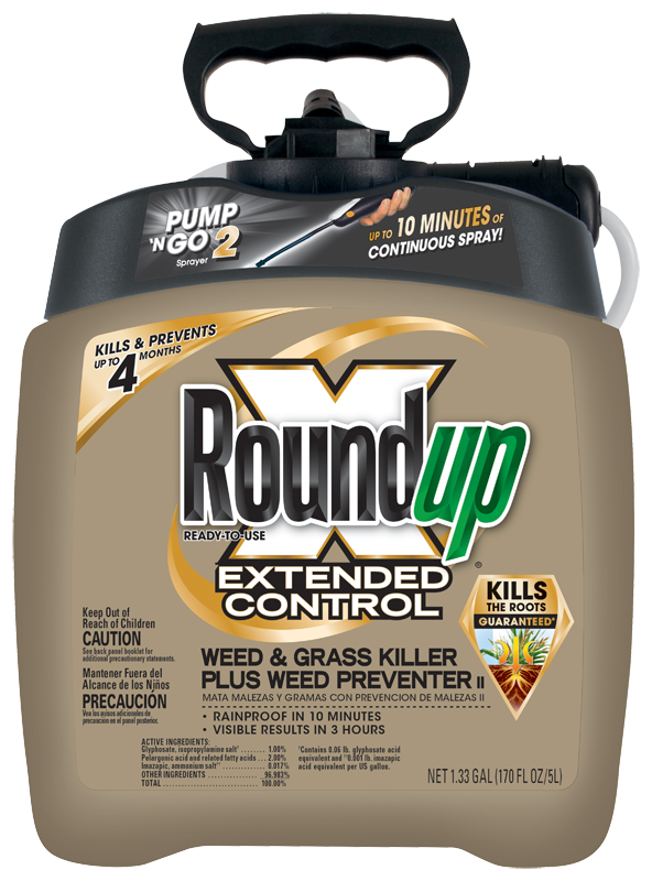 Roundup Ready To Use Extended Control Weed And Gr Plus Preventer Ii In The Pump N Go 2 Sprayer
