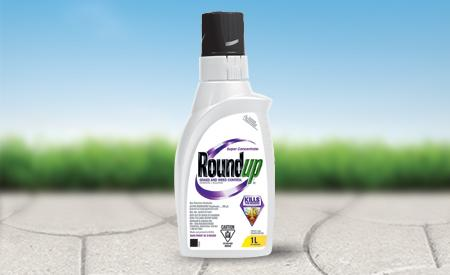 Roundup CA concentrate product on ground