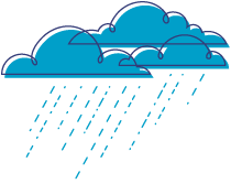 Clouds with Rain Illustration