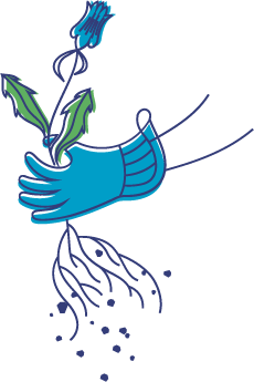Illustration of a hand pulling a weed.