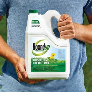 Roundup For Lawns1 is a formula that kills weeds, not the lawn! It controls over 250 common lawn weeds, roots and all, and is especially effective on hard-to-kill weeds such as crabgrass, dandelion, clover and yellow nutsedge. This ready-to-use refill is easy to pour right into our Extended Wand bottle, with no mixing required, to make it easier than ever to control lawn weeds. This fast-acting formula starts killing on contact and kills weeds down to the root so they don't come back. In addition, it's rain