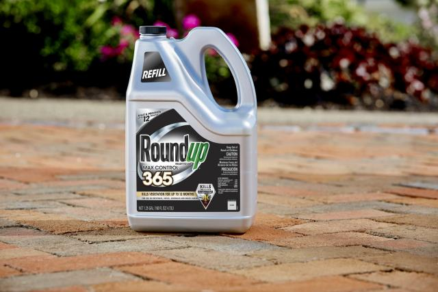 RoundUp 365 Refill holding on Patio