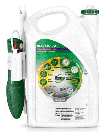 Roundup® For Lawns Ready-to-Use back of packaging