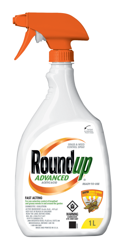 Roundup Grass & Weed Control Spray Ready-To-Use 1L